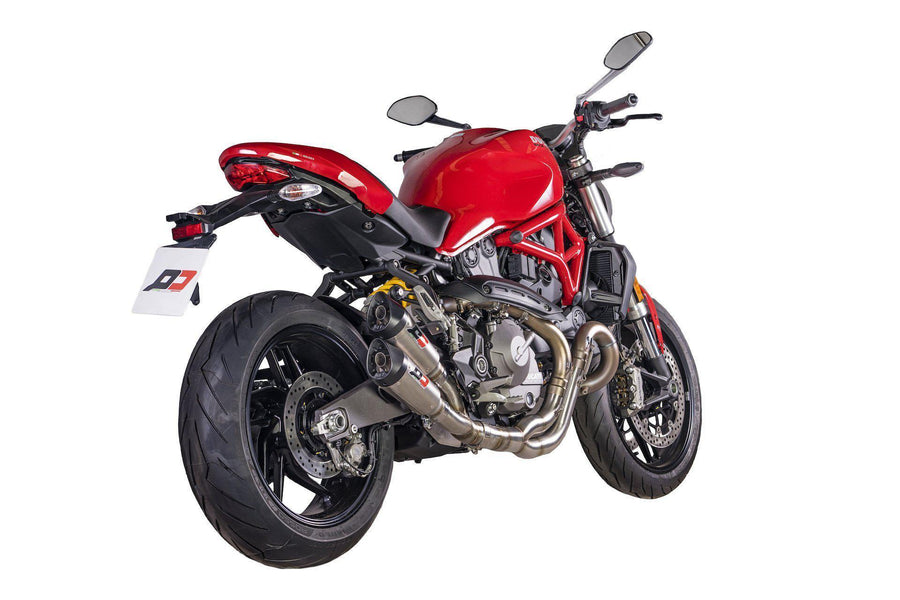 Ducati Monster 821 / 1200S Twin Gunshot Euro 4 Exhaust-Exhaust Systems-DESIGN CORSE
