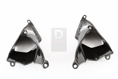 Ducati / MV Agusta Motorcycle Products - Ducati 899 1199 Carbon Tail Seat Air Inserts MOTOCORSE