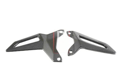 Ducati / MV Agusta Motorcycle Products - Ducati 959 1199 Carbon Heel Guards Vented MOTOCORSE