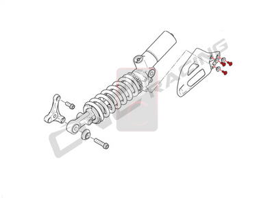 Ducati / MV Agusta Motorcycle Products - Ducati 959 / 1199 Panigale Shock Shield Screw Kit