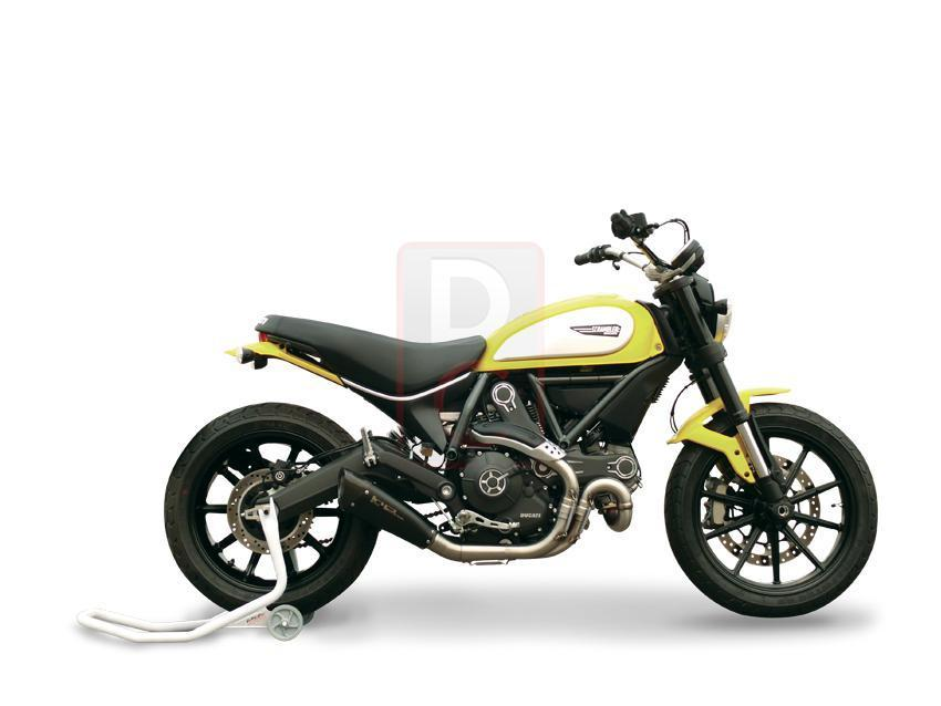 Ducati Scrambler Exhaust Low Slip on EvoExtreme 260-Exhaust Systems-DESIGN CORSE