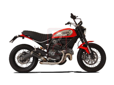 Ducati Scrambler Exhaust Low Slip on GP07 Euro 3-Exhaust Systems-DESIGN CORSE