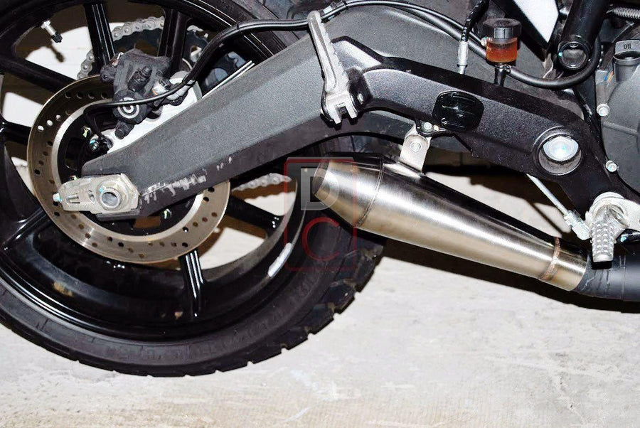 Ducati Scrambler Exhaust Retro Slip on NRC-Exhaust Systems-DESIGN CORSE