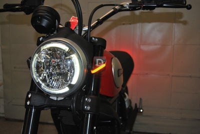 Ducati Scrambler Front LED Indicator Turn Signals-Indicator Turn Signals-DESIGN CORSE