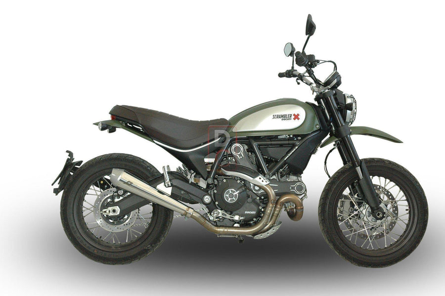 Ducati Scrambler QD Maxcone Exhaust Slip On-Exhaust Systems-DESIGN CORSE