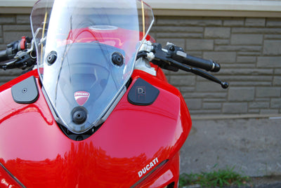 Ducati Supersport 939 / S Mirror Block Off Plates Kit NRC-Mirrors & Accessories-DESIGN CORSE