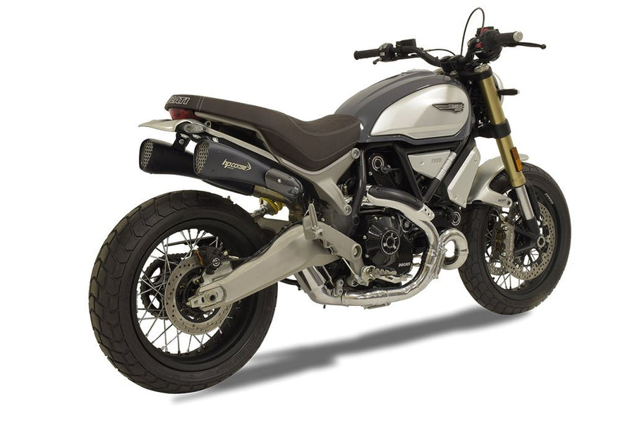 Ducati Scrambler 1100 Hydroform Corsa Short Black Slip-On Exhaust