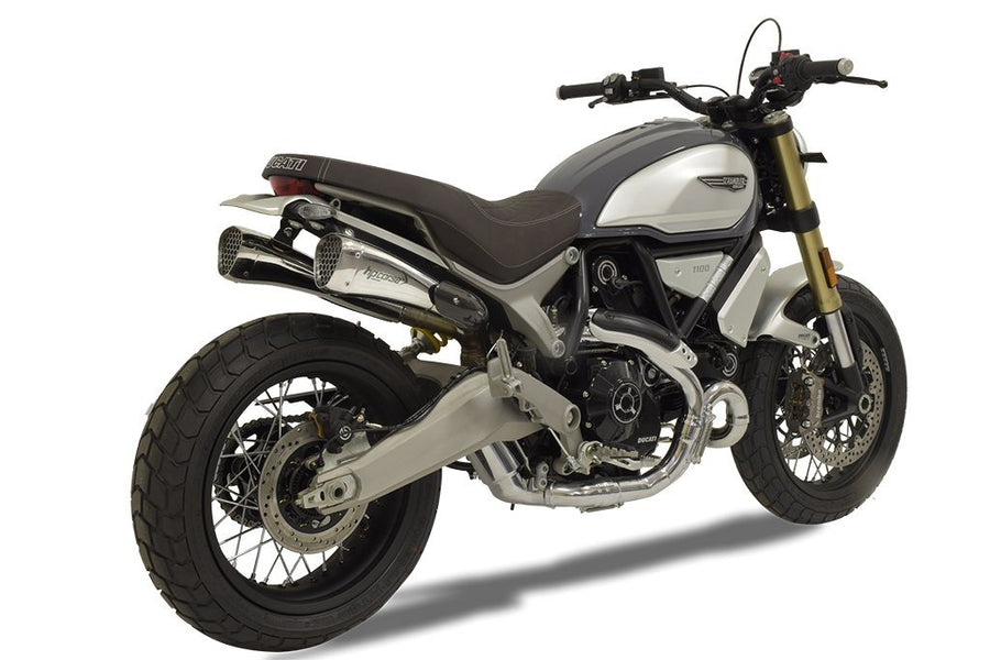 Ducati Scrambler 1100 Hydroform Corsa Short Polished Slip-On Exhaust