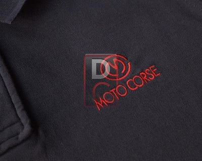 Motocorse Polo Shirt Inc Titanium Buttons-Decals, Stickers & Apparels-DESIGN CORSE
