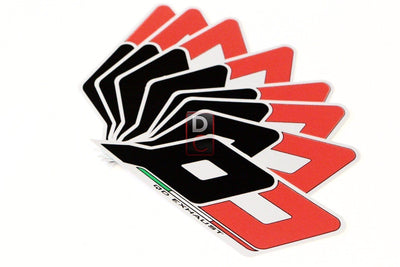 MV Agusta / Ducati QD Exhaust Logo Decal Sticker-Decals, Stickers & Apparels-DESIGN CORSE