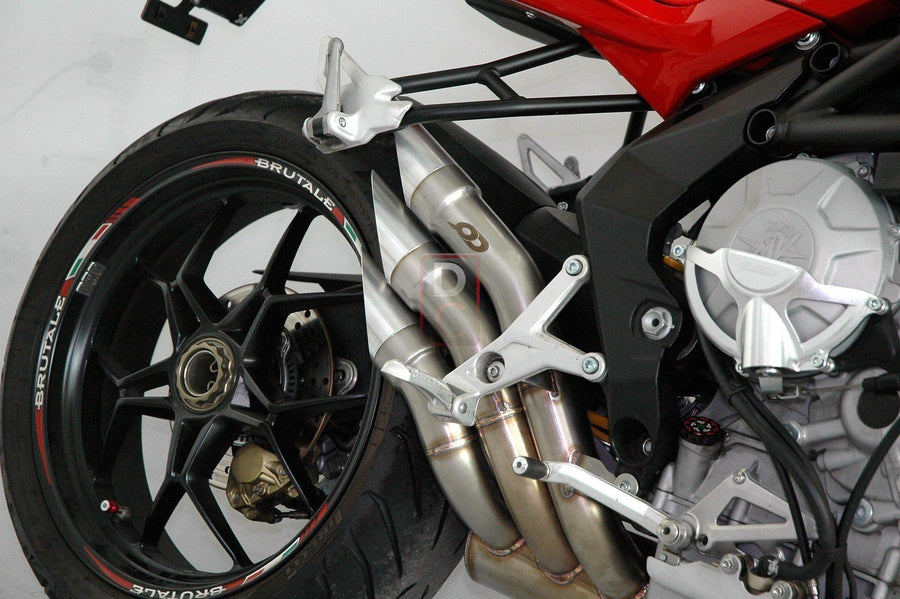 MV Agusta F3 800 / Dragster QD Exhaust Euro 3 Slash Cut-Exhaust Systems-DESIGN CORSE