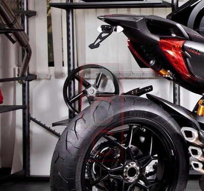 MV Agusta Rivale 800 Tail Tidy Kit Fender Eliminator Kit Motocorse-Tail Tidy Fender Eliminators-DESIGN CORSE