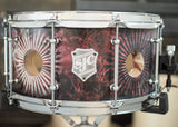 7x14 48-ply Snare Hand Painted by Jay Weinberg