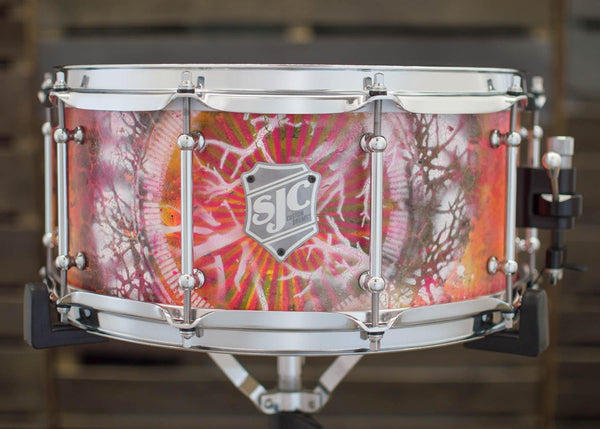 6.5x14 10-ply Snare Hand Painted by Jay Weinberg