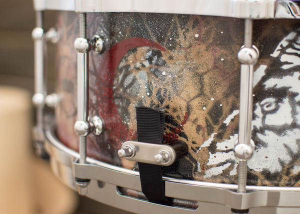 SJC Custom Drums USA Custom Snare Drum Maple Ply Shell Custom Hand Painted Finish