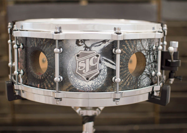 6x14 48-ply Snare Hand Painted by Jay Weinberg