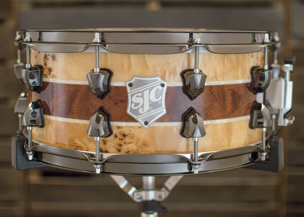 *Blemished* 6.5x14 Exotic Wood & White Pearl Snare (USA Only)