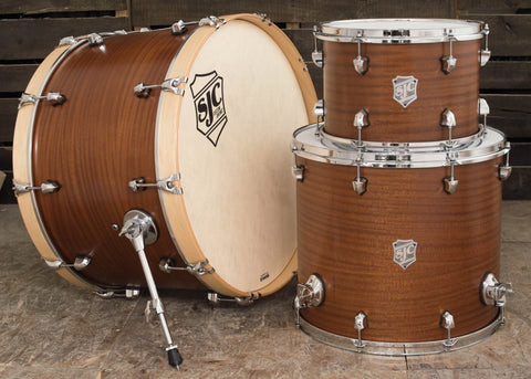 SJC Custom Drums USA Custom Drum Kit Mahogany Natural Super Satin Stain