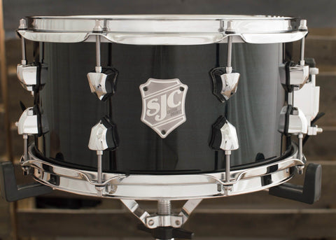 SJC Custom Drums USA Custom Snare Drum Dark Blue Hi-Gloss Mahogany Snare
