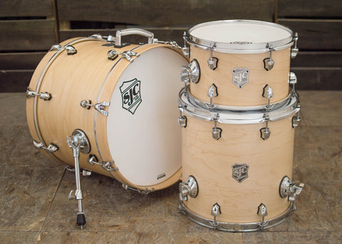 SJC Custom Drums USA Custom Drum Kit Maple Natural Satin