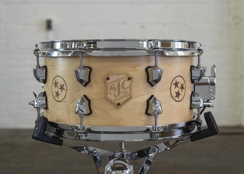 "Custom 6.5x13"" Maple Snare with Tennessee TriStar!"