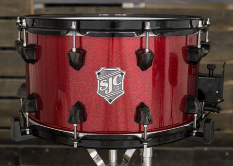 8x14 Hi-Gloss Red Sparkle Snare