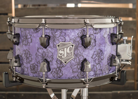 Purple Floral Snare - #7051