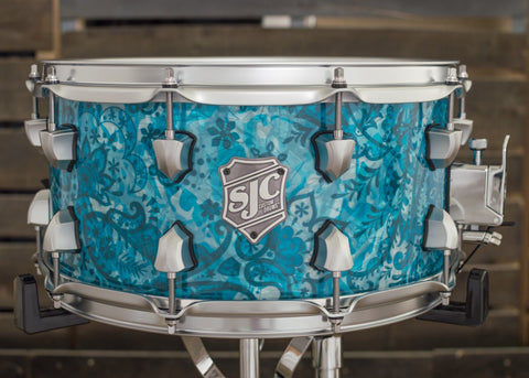 Teal Paisley Snare - #7063