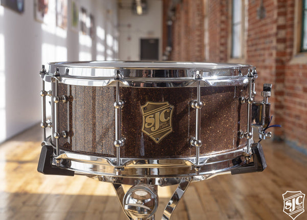 6x14 M5 Maple Snare - Rootbeer Glitter with Chrome Hardware