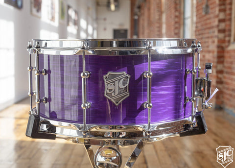 6.5x14 M5 Maple Snare - Purple Ripple with Chrome Hardware