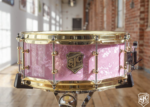 5.75x14 M5 Maple Snare - Pink Diamond with Brass Hardware