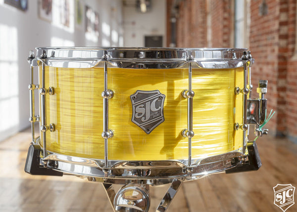 6.5x14 M5 Maple Snare - Yellow Ripple with Chrome Hardware