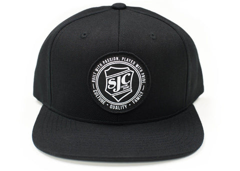 SJC Custom Drums Snapback Hat Black