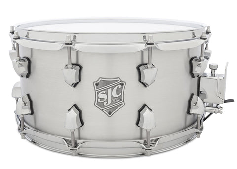 SJC Custom Drums USA Custom Snare Drum Solid Aluminum Shell Brushed Aluminum Finish