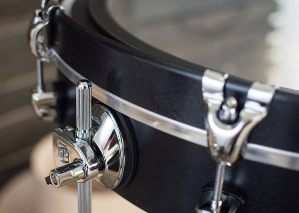 SJC Custom Drums UFO Chrome Hardware Maple Black Satin Stain
