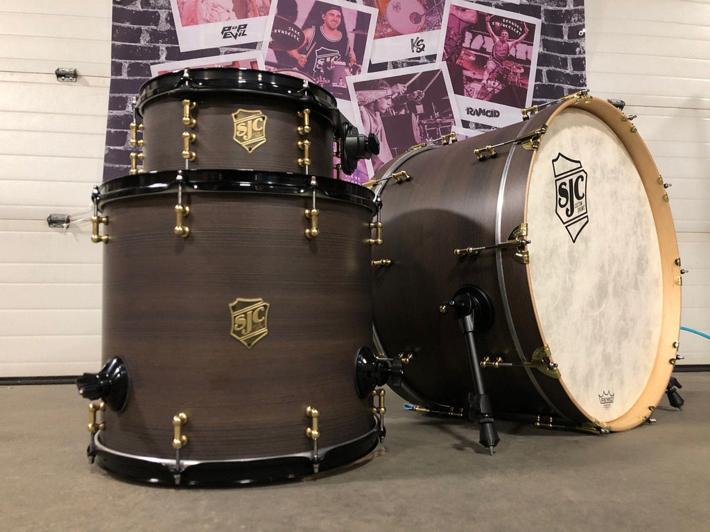 "3pc Mahogany Shell Pack 12"", 16"", 24"" - Brown Swirl Finish"