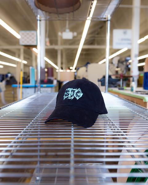Metal Logo Dad Hat - Black
