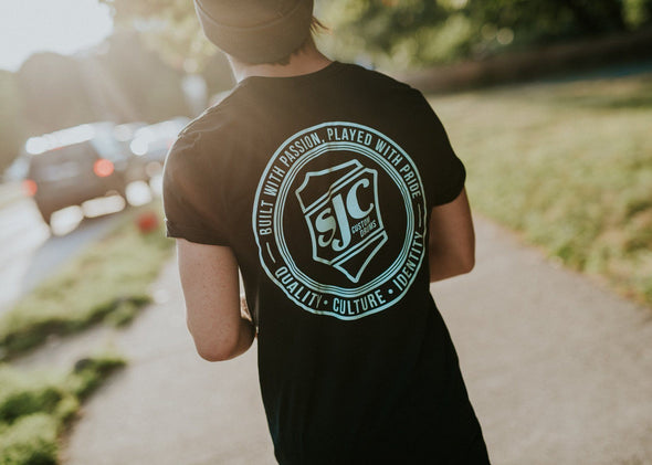 SJC Values Logo Shirt - Black & Seafoam