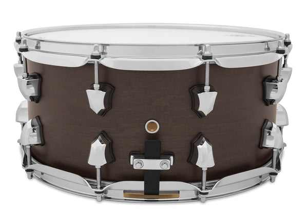 SJC Custom Drums USA Custom Snare Drum Navigator  North American Maple Midnight Espresso Super Satin Stain