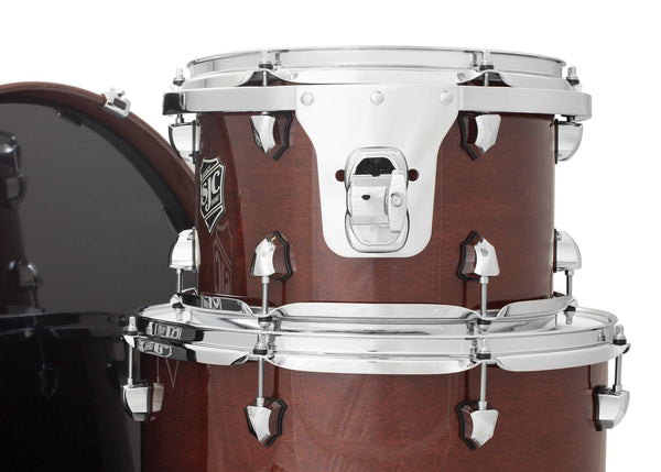 SJC Custom Drums USA Custom Drum Kit Paramount North American Maple Shells Walnut Transparent Hi-Gloss Lacquer