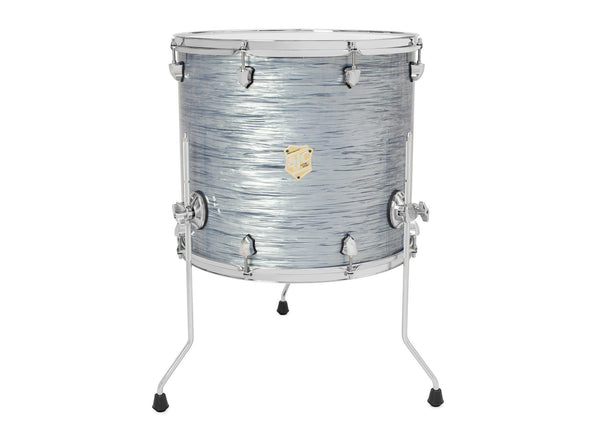 SJC Custom Drums USA Custom Drum Floor Tom Providence Maple Silver Ripple Wrap