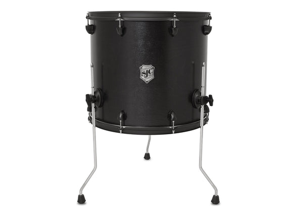 SJC Custom Drums USA Custom Drum Floor Tom Tour Series Maple Black Satin Stain