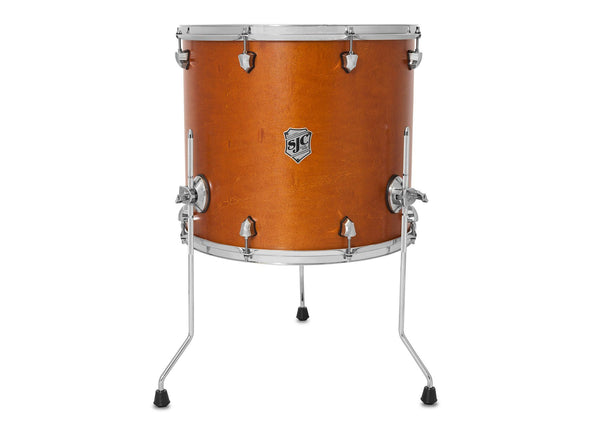 SJC Custom Drums Tour Series Maple Floor Tom Golden Ochre Satin