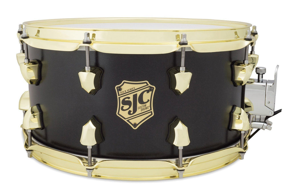 SJC Custom Drums USA Custom Snare Drum Maple Black Satin Stain