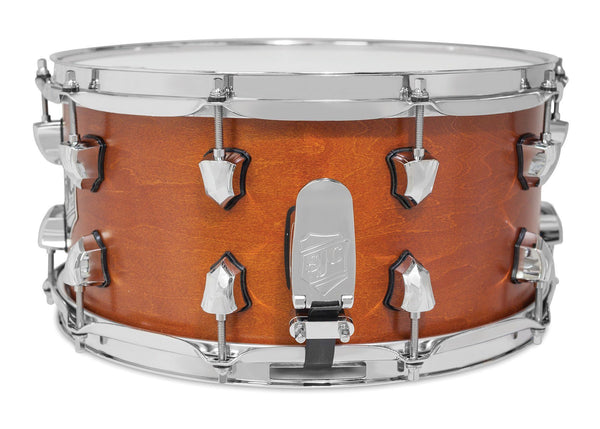 SJC Custom Drums USA Custom Snare Drum Maple Golden Ochre Satin Stain