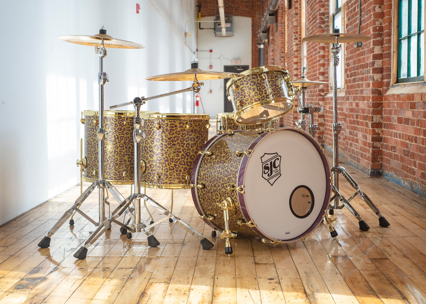 tre cool green day drum kit