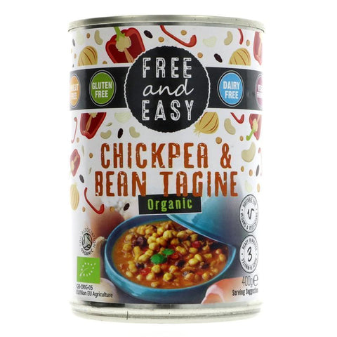 Free & Easy | Chickpea & Bean Tagine | 1 X 400g. This Product Is :- Vegan,organic