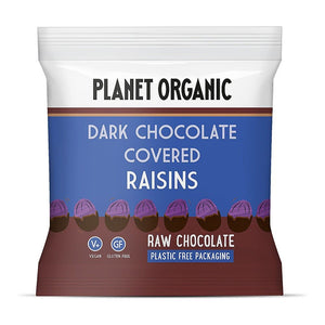 Planet Organic | Organic Chocolate Covered Raisins | 1 X 40g. Sold By Superfood Market