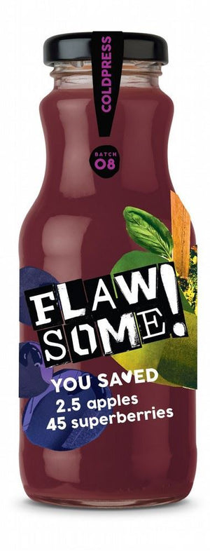 Flawsome! | Apple & Superberry Juice | 1 x 250ml | Flawsome!
