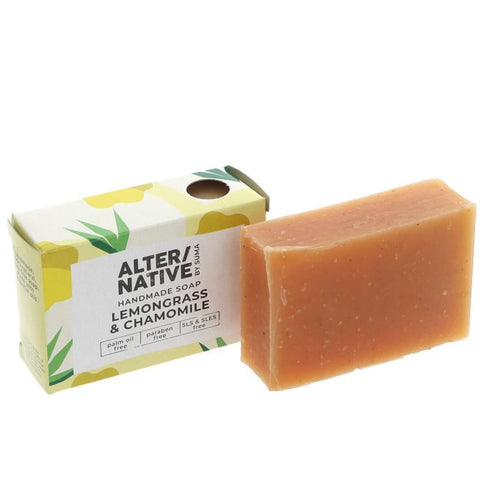 Alter/native By Suma | Boxed Soap L'grass & Chamomile | 1 X 95g. This Product Is :- Vegan